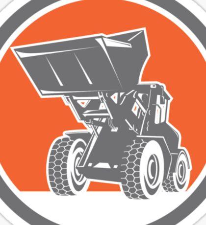 Front End Loader Digger Excavator Circle Retro Sticker
