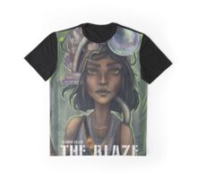 The Blaze Comic Cover Graphic T-Shirt