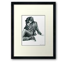 Penciled Harry  Framed Print