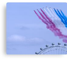 Red Arrows flying over London Eye Canvas Print