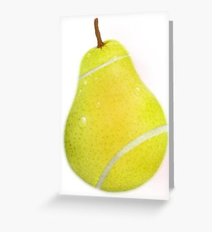 Tennis ball pear Greeting Card
