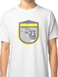 Steam Train Locomotive Retro Shield Classic T-Shirt