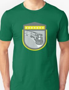Steam Train Locomotive Retro Shield T-Shirt