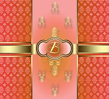Monogrammed Flemish B Orange by rcurtiss000