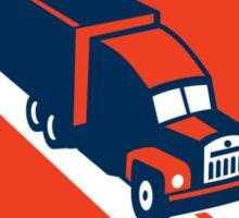 Container Truck and Trailer Shield Retro Sticker