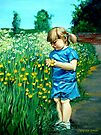 Girl with the Flowers by Cherie Roe Dirksen