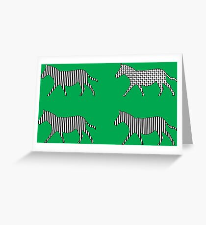 Zebra; Be Different Greeting Card