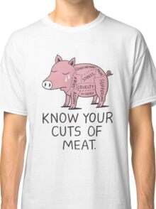 Vegan T-shirt - Know Your Cuts of Meat  Classic T-Shirt