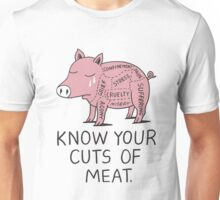 Vegan T-shirt - Know Your Cuts of Meat  Unisex T-Shirt