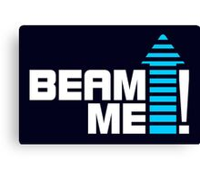 Beam me up V.1 (2c) Canvas Print