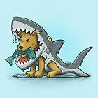 Shark Suit Dog by nickv47