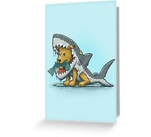 Shark Suit Dog Greeting Card