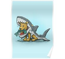 Shark Suit Dog Poster