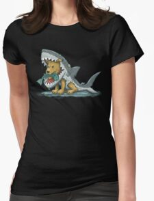 Shark Suit Dog Womens Fitted T-Shirt
