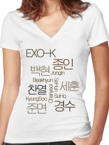 EXO-K Women's Fitted V-Neck T-Shirt