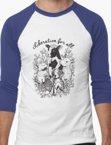 Vegan T-shirt - Liberation for All  Men's Baseball ¾ T-Shirt