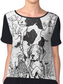 Vegan T-shirt - Liberation for All  Chiffon Top