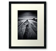Monochrome Triangles Framed Print
