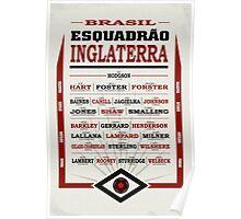 Brasil Esquadrão Inglaterra poster Poster