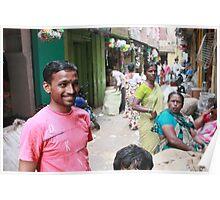 Street Scene Begum Bazaar Poster