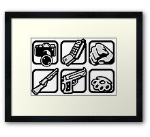 GTA San Andreas Weapons Framed Print