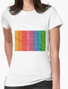 Rainbow Stripe Pattern Womens Fitted T-Shirt