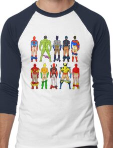 Superhero Butts Men's Baseball ¾ T-Shirt
