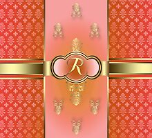 Monogrammed Flemish R Orange by rcurtiss000