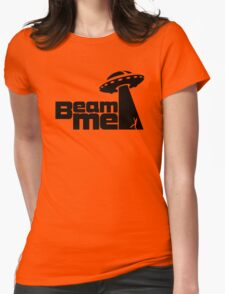 Beam me up V.2.1 (black) Womens Fitted T-Shirt