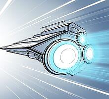 Hyperdrive Spaceship by Freddie Horton
