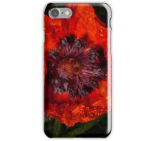 orange poppy covered with raindrops iPhone Case/Skin