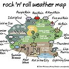 rock 'n' roll weather map by WrongHands