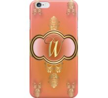 Monogrammed Flemish W Orange iPhone Case/Skin