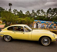 All the kids love an E Type! by Peter Doré