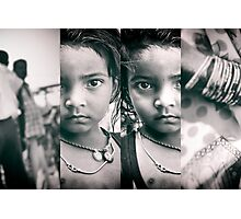 girl with parents, in 4 panels | kolkata, india Photographic Print