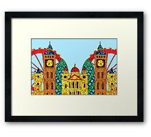 London Icon Building Mozaic Framed Print