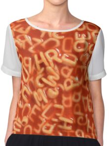 Alphabet Soup Chiffon Top