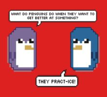Pixel Penguin Puns One Piece - Short Sleeve