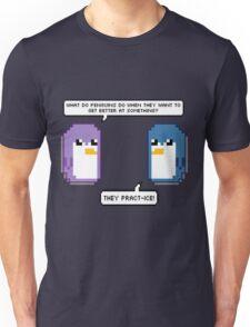 Pixel Penguin Puns Unisex T-Shirt
