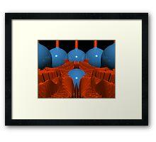 Red Blue Macro Fractal Framed Print