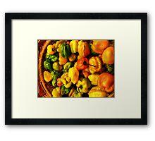 Basket of Hot Framed Print