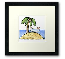 Sweet Dream of Vacation Framed Print