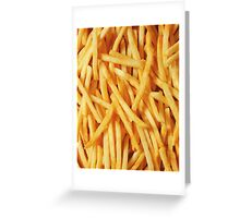 French Fried Potatoes Greeting Card