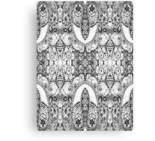 Black and White Paisley Pattern Canvas Print