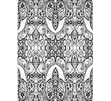 Black and White Paisley Pattern Photographic Print