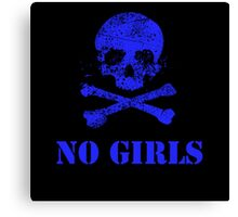 No girls Canvas Print