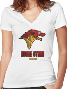 House Iron Stark Sigil and Motto Women's Fitted V-Neck T-Shirt