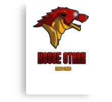 House Iron Stark Sigil and Motto Canvas Print