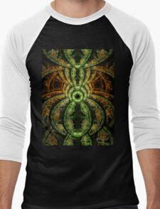 Jungle - Abstract Fractal Artwork Men's Baseball ¾ T-Shirt