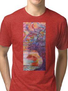 Sunset over the beach Tri-blend T-Shirt